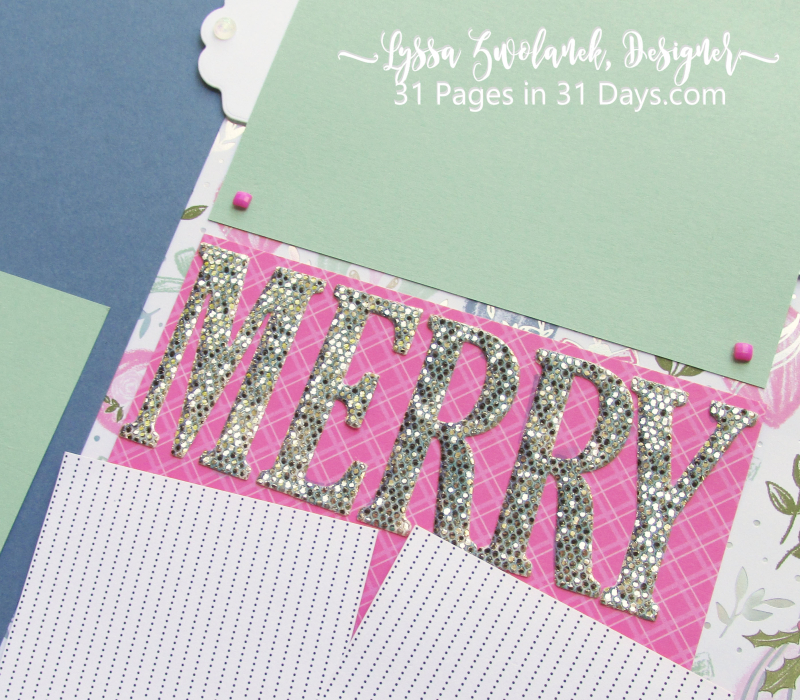 Lyssa 31 Pages Days scrapbooking blog series layout ideas free giveaways