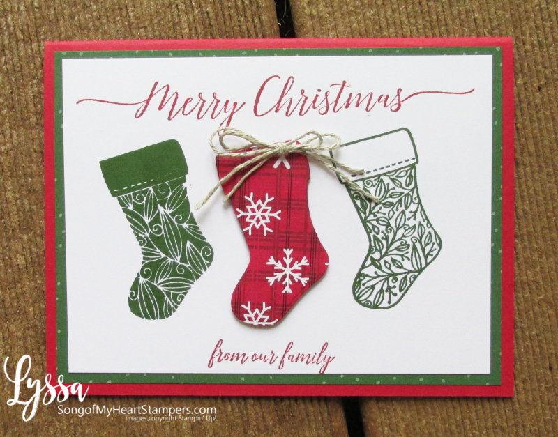 Christmas cards tidings trimmings stockings rubber stamps Stampin Up Lyssa