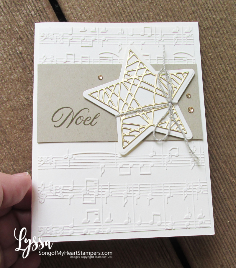 Christmas cards tidings trimmings rubber stamps Stampin Up Lyssa