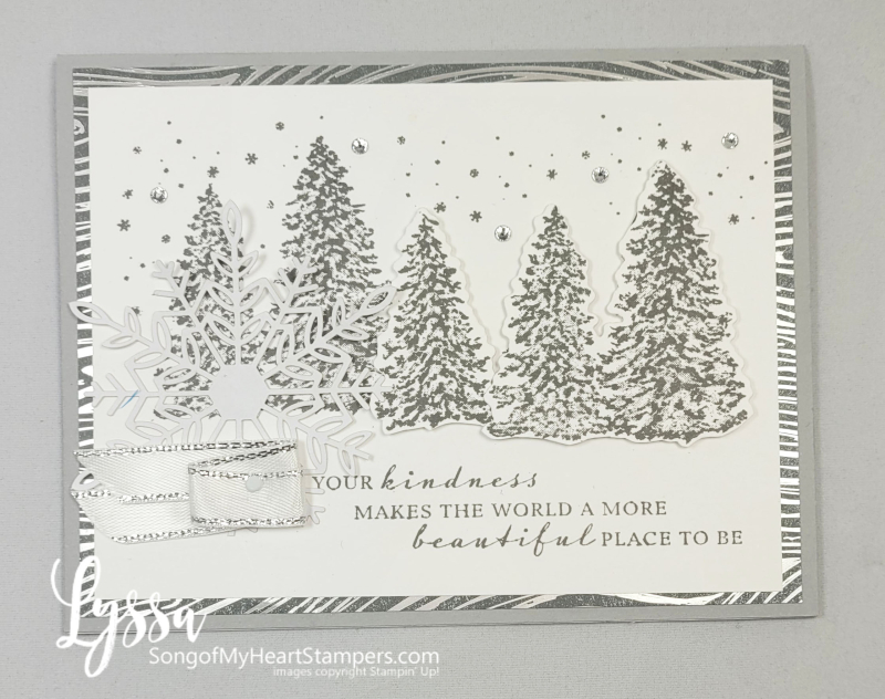 Peaceful Cabin place Stampin Up mountains pines rubber stamps Christmas Holiday New Year