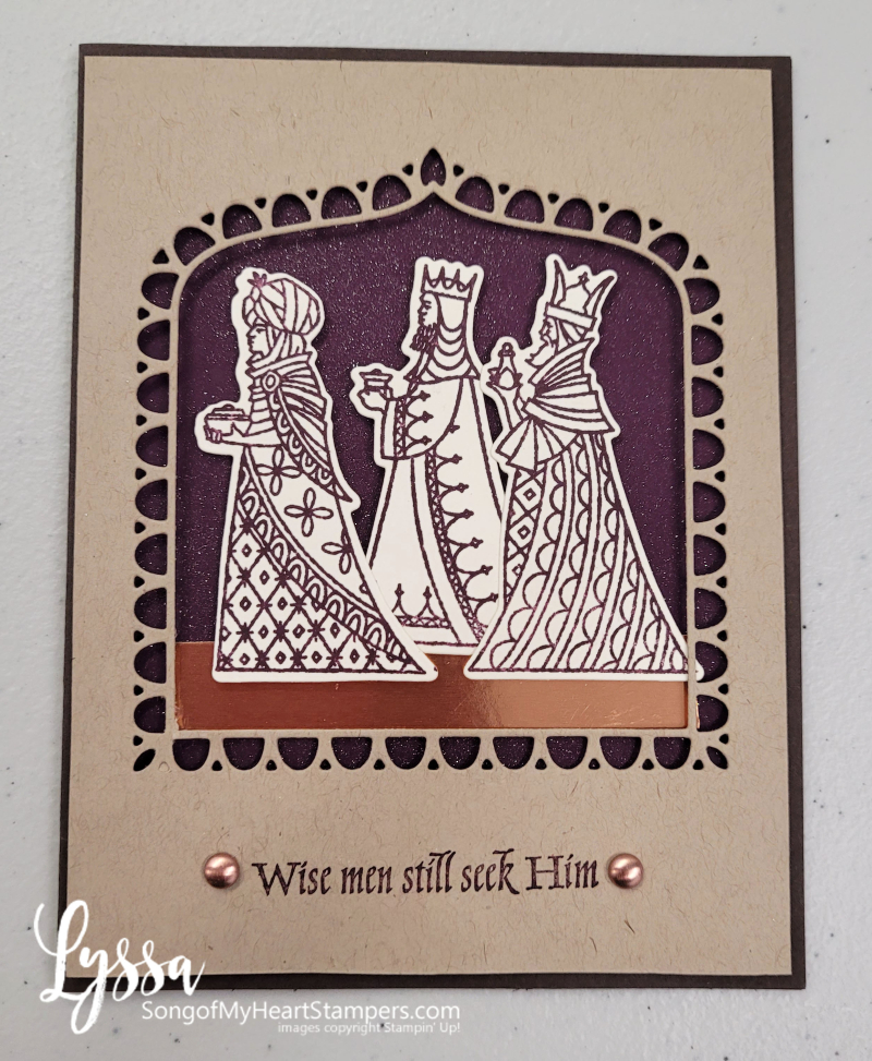 Good tidings great joy wise men Stampin Up christmas card rubber stamps DIY cardmaking