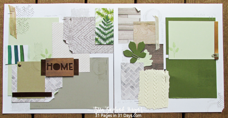 31 Pages Days remodel home ferns leaves Stampin Up scrapbook album pages layouts Lyssa