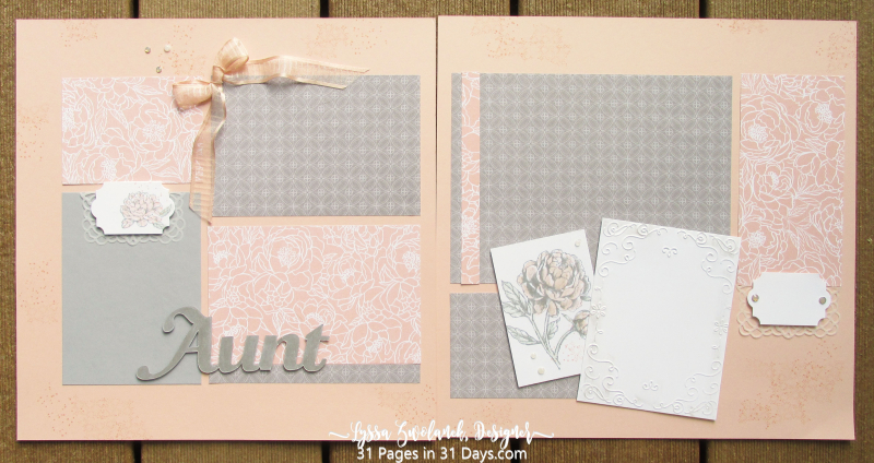 31 Pages in 31 Days Peony Garden papers Stampin Up Lyssa Z prized scrapbooking
