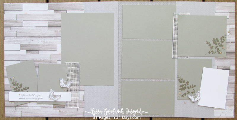 31 days layout pages album scrapbooking 12x12 Lyssa Zwolanek