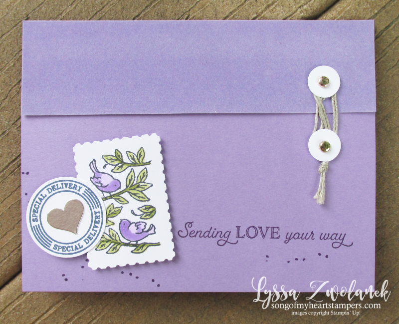Posted for you Lyssa Stampin Up bundle punch stamps cardmaking DIY velvet tutorial class technique