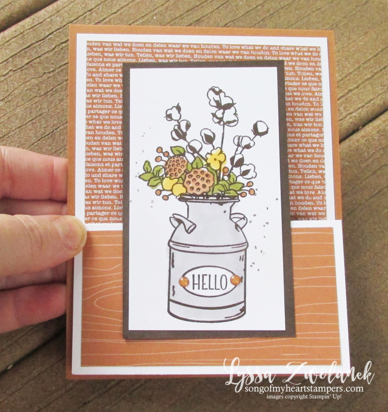 Country Home Double Easel card tutorial Lyssa Stampin Up cardmaking supplies