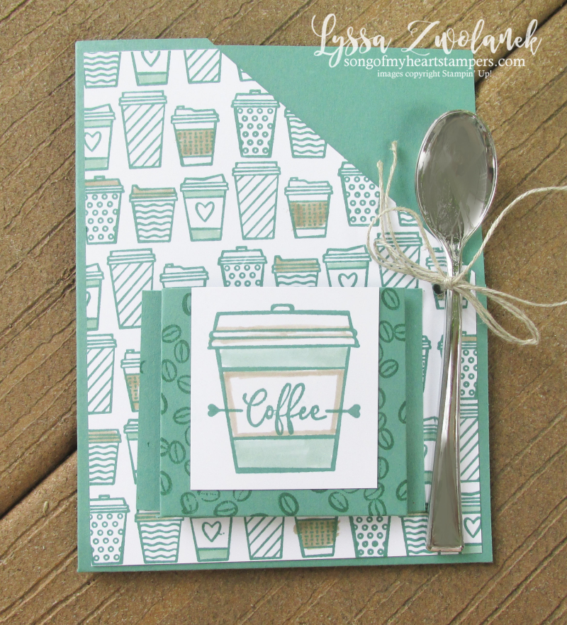 Press On Coffee cafe Stampin Up latte lover double packet pocket fancy fold tutorial