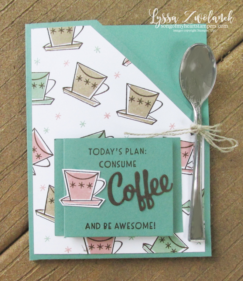 Nothing Better Than Coffee latte double packet pocket fancy fold Stampin Up cafe Lyssa