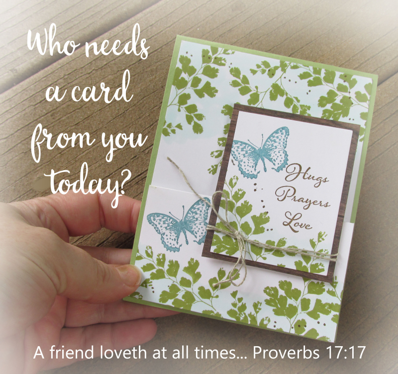 Make a card send a card Stampin Up