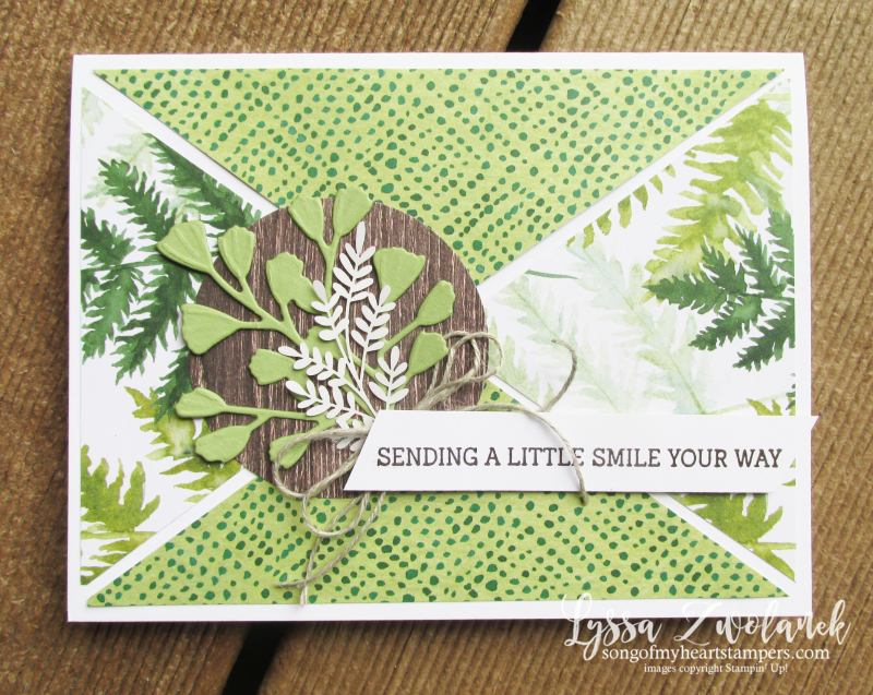 Forever greenery gold ferns Stampin Up Lyssa cardmaking supplies criss cross cut rubber stamps
