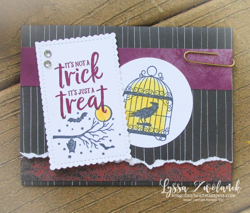 Halloween Stampin Up ghoulish goodies gift card holder october 31