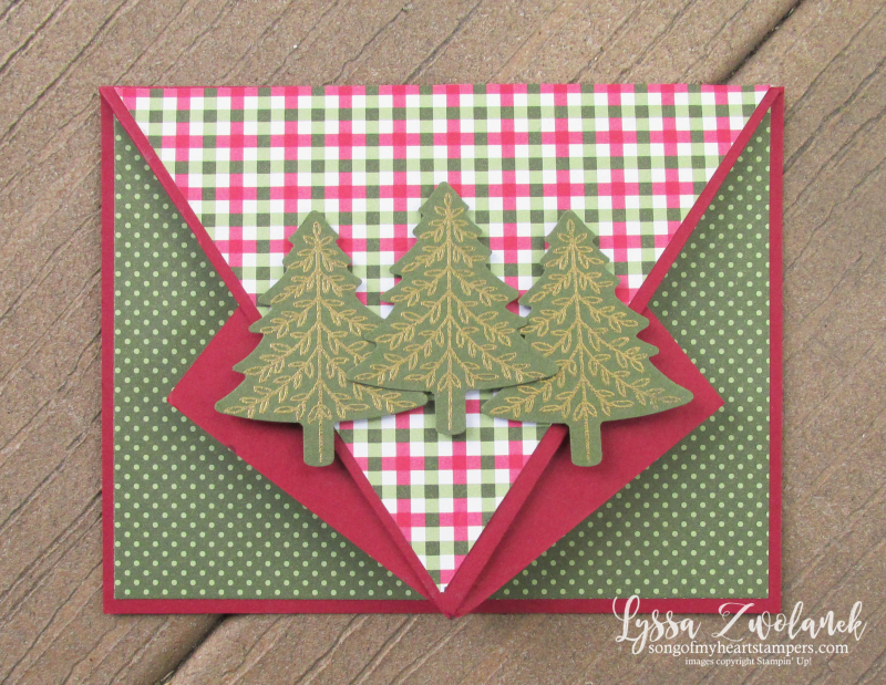 Arrowhead fold video tutorial Lyssa Stampin Up fancy card instructions