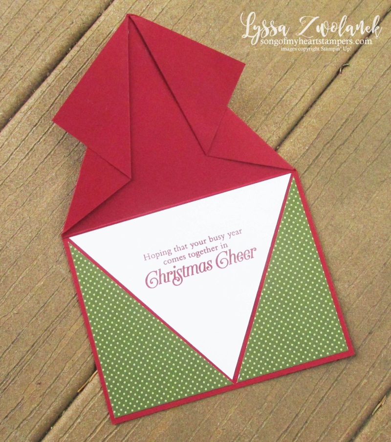 Arrowhead fold video tutorial Lyssa Stampin Up fancy cards instructions