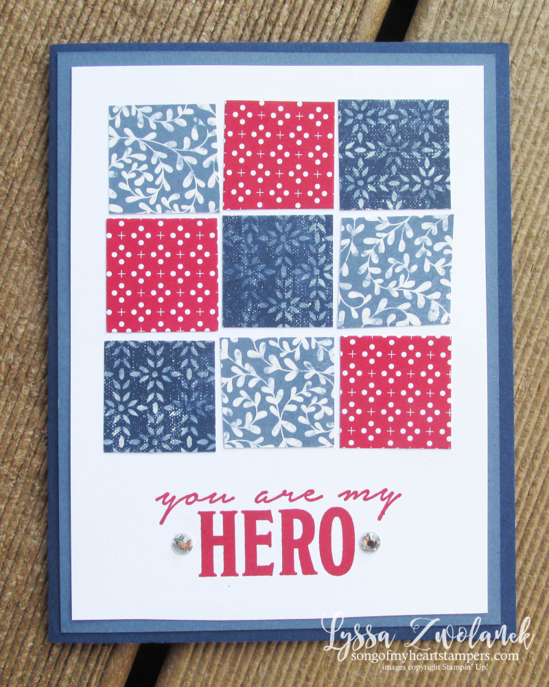 Honor Flight patriotic mail call cards veterans charity project Lyssa Stampin Up Heart SU award scraps