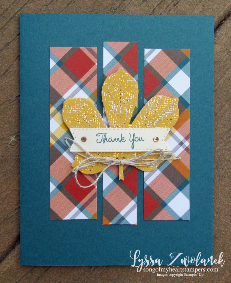 One sheet wonder My layout Library Lyssa Stampin Up demonstrator technique tutorial cardmaking easy autumn ideas