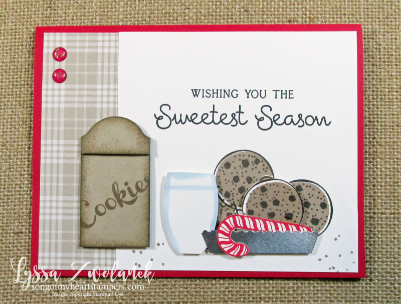 Love you more than cookies Sweetest Season Stampin Up holiday Christmas cardmaking santa