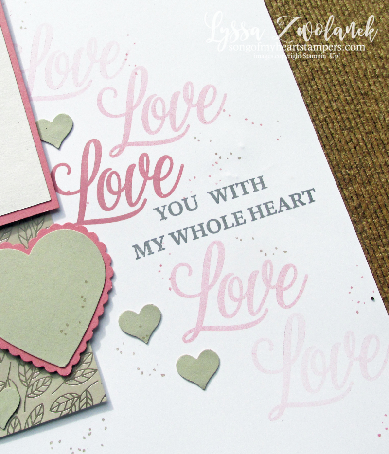 Love you always true Stampin Up specialty papers 12x12 scrapbooking demo layouts Lyssa