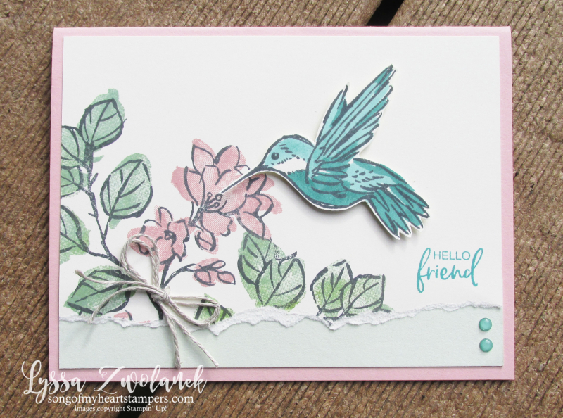Touch of ink humminbird gardenia Stampin Up watercolor 2 step rubber stamping cardmaking ideas
