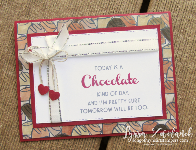 Valentine blog series Penni Lyssa Stampin Up easy ideas kids adults cardmaking chocolate today galentine
