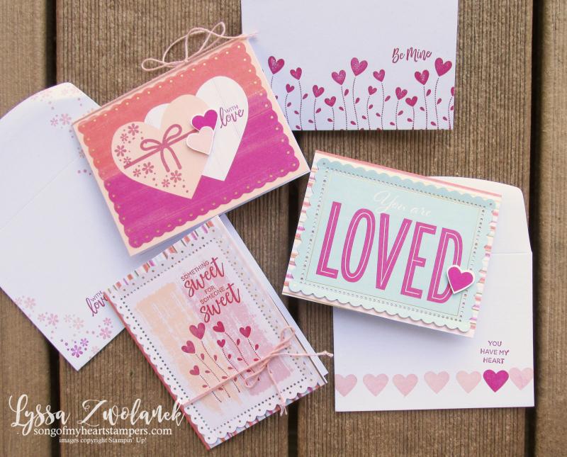 Valentine Keepsakes ten easy valentines mini 10 minutes Lyssa Stampin Up