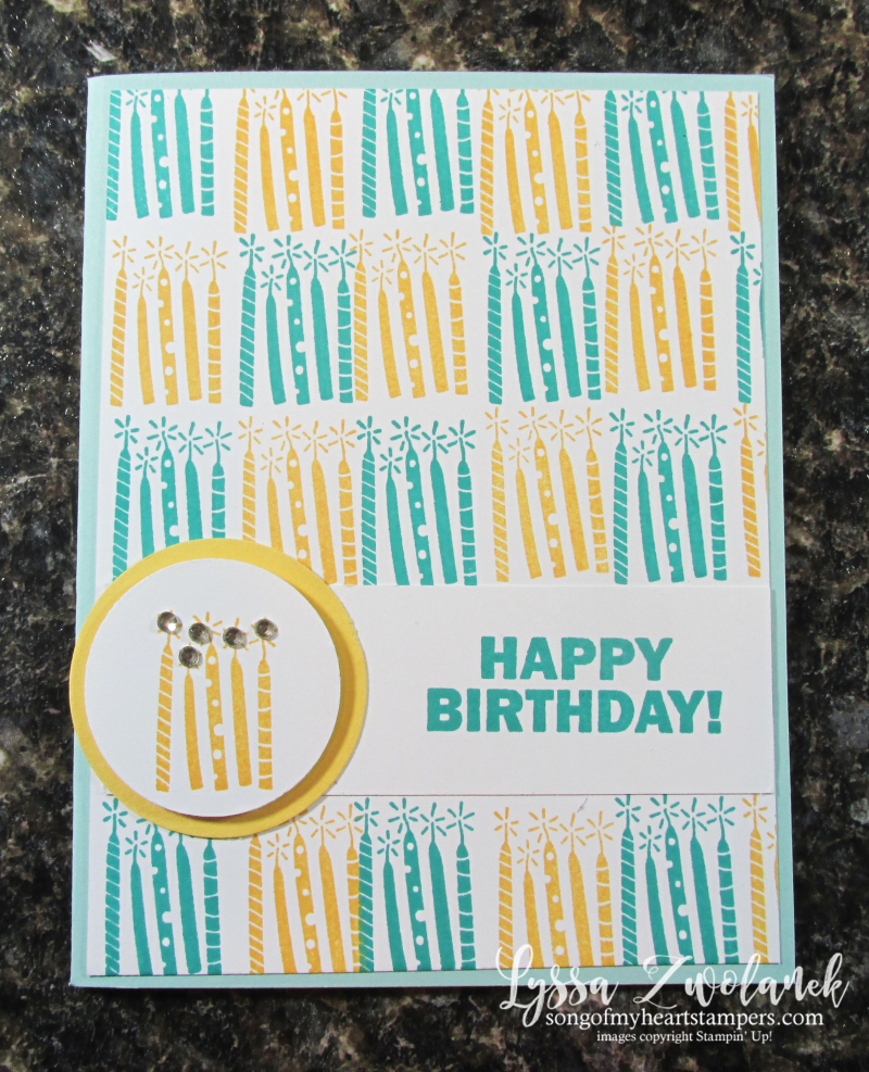 Approaching perfection Stampin Up SAB 2021 stamp birthday candles printable cardmaking Lyssa