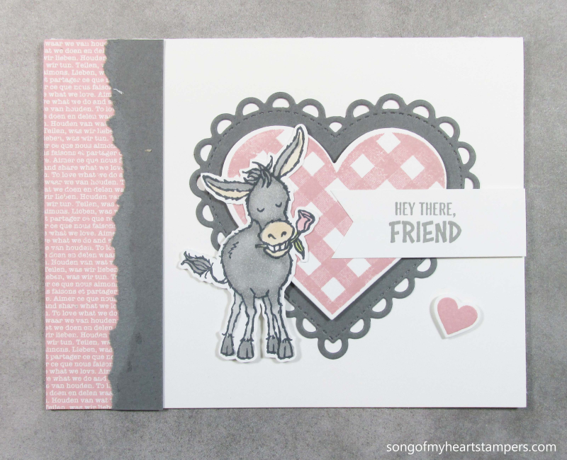 Darling Donkeys valentine heart Stampin Up saleabration free rewards set Lyssa Lynn Dunn