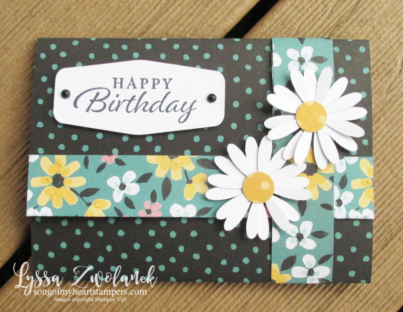 Four door fold fancy Lyssa scored DSP card tutorial free Stampin Up idea