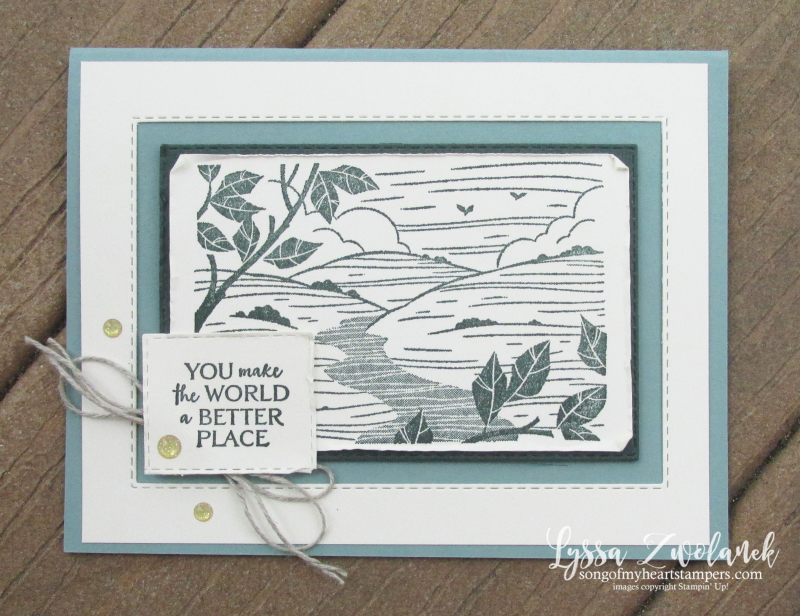 Evening Evergreen forest hunter green better place hostess set host ideas Stampin Up demo free catalog party
