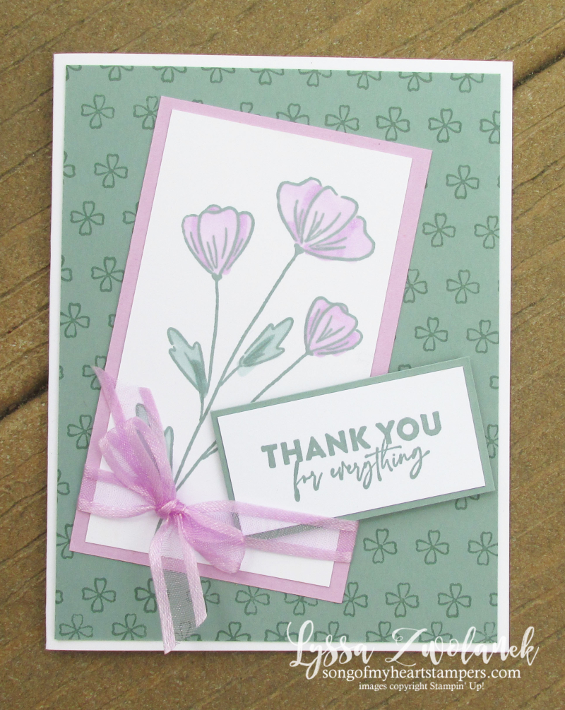 Fresh Freesia Stampin Up colors inkpad refill reinker pads rubber stamps easy cardmaking supplies