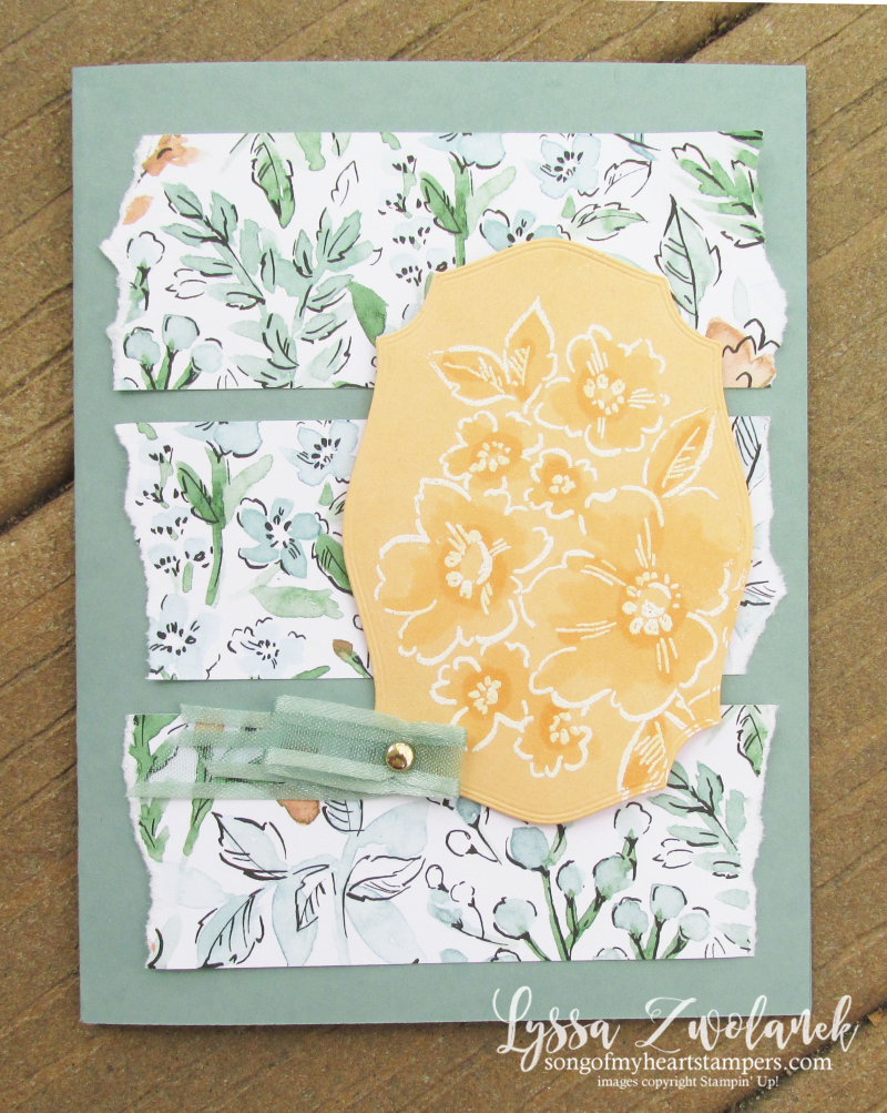 Pale Papaya Stampin Up hand penned petals papers supplies ink ideas