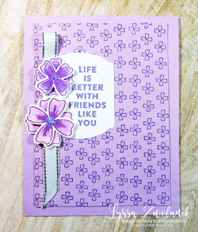 Flowers of Friendship Stampin Up floral fresh freesia cardmaking ideas class Lyssa