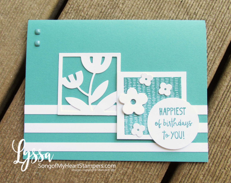 All Squared Away floral square dies Stampin Up Lyssa class printable tutorial ideas cardmaking stamping