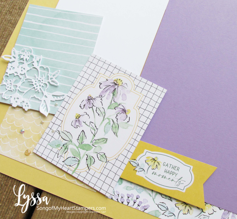 Hand penned petals pages albums scrapbooking scrapbooks layout idea template Lyssa