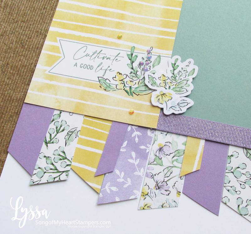Hand penned petals page album scrapbooking layout idea template Lyssa