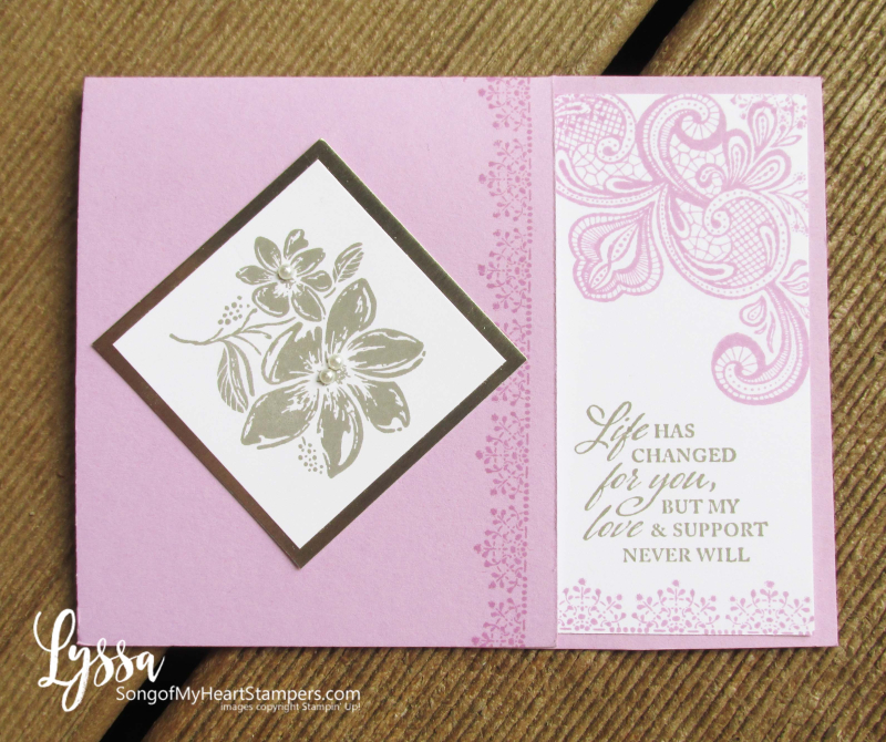 Simply elegant punch papers lace Stampin Up Lyssa sympathy cards handmade homemade