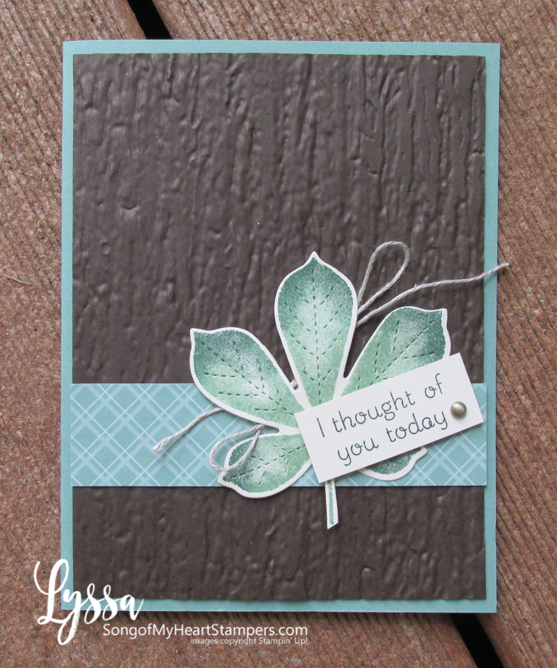 Love of Leaves stitched leaf fall autumn Stampin Up rubber stamps Lyssa