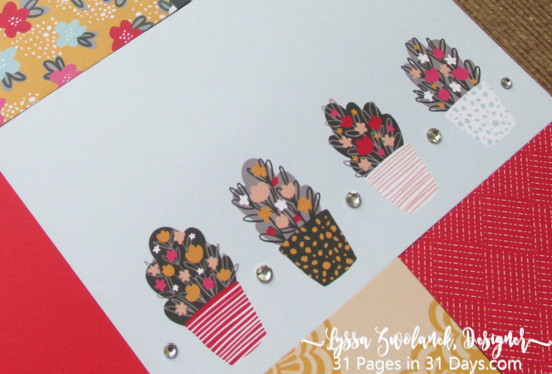 31 days pages scrapbooking annual series album Lyssa Stampin Up free layout