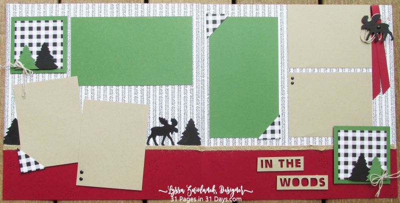 Moose 31 pages days Stampin Up scrapbooking layouts spreads Lyssa summer school camping