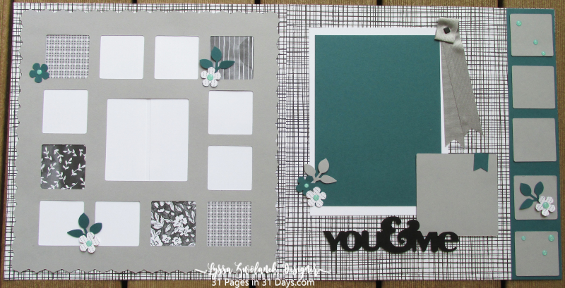 You me 31 pages days Lyssa scrapbooking layout album Stampin Up ideas supplies