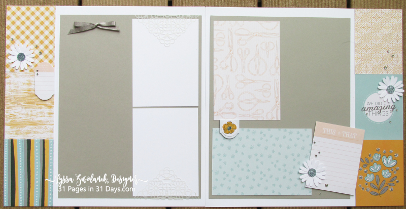 12x 12 scrapbooking series Lyssa Stampin Up 31 pages days layouts
