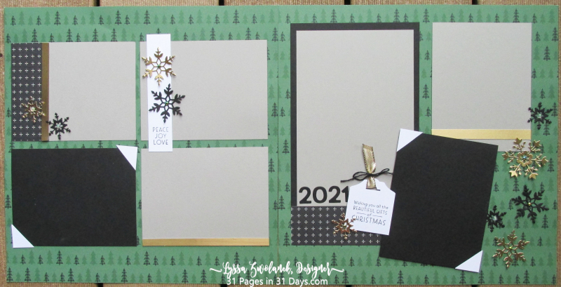 Christmas 31 Pages 31 Days layout album spreads ideas templates winter Stampin Up