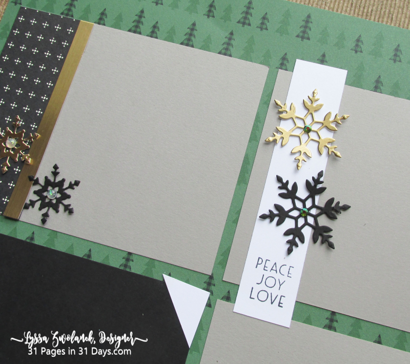 Christmas 31 Pages 31 Days layout album spreads ideas templates winter Lyssa Stampin Up