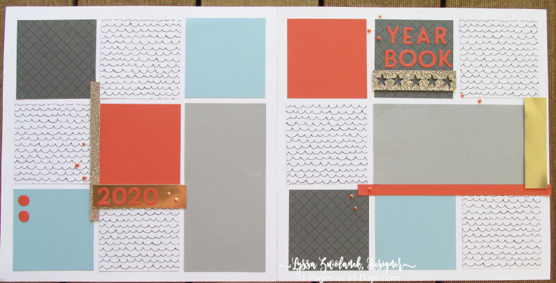 Year book scrapbook layout spread Stampin Up 31 Pages Days Lyssa