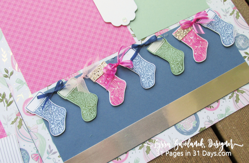 Lyssa 31 Pages Days scrapbooking blog series layout ideas free giveaway