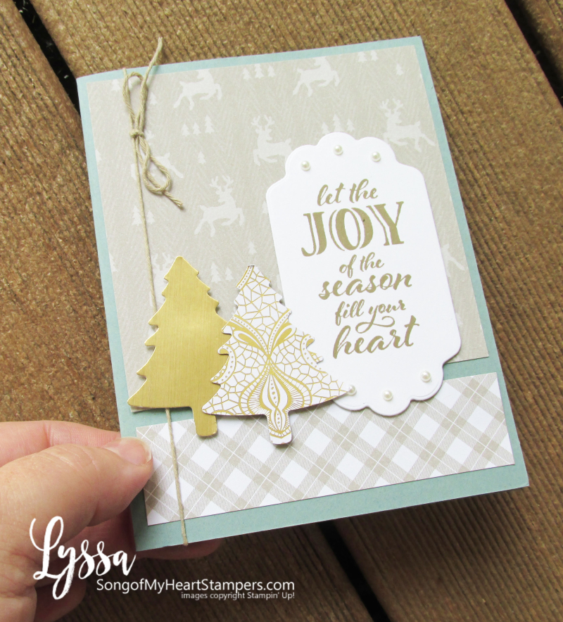 Christmas cards simply elegant lace rubber stamps Stampin Up Lyssa