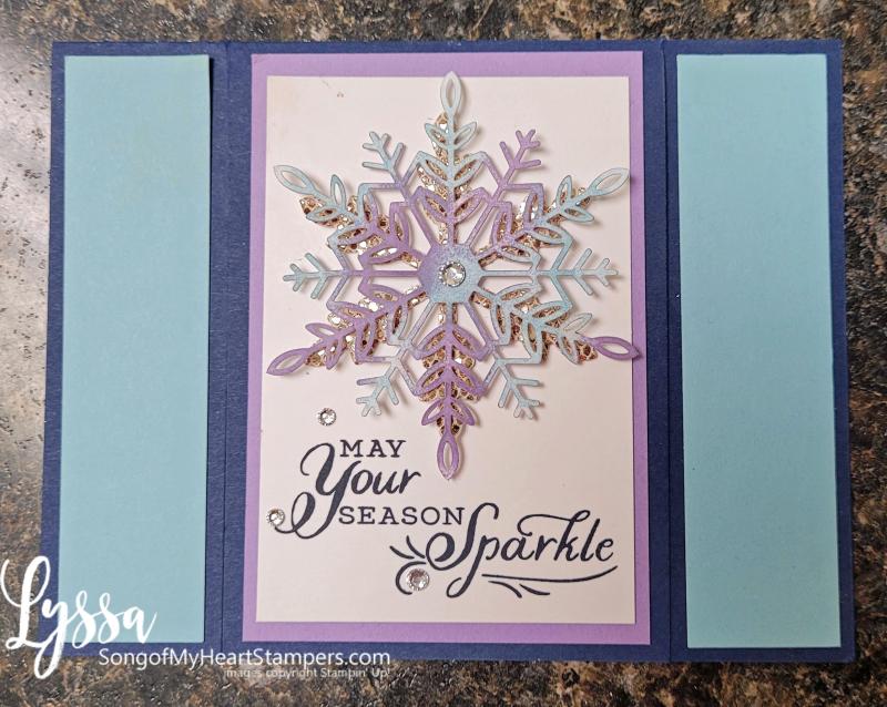 Christmas holiday handmade cards snowflake lasercut Stampin Up