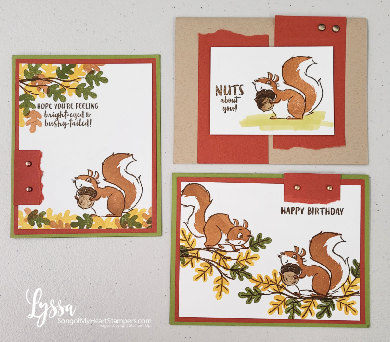 Nuts About Squirrels You tree leaves fall autumn Stampin Up cartoon stamps