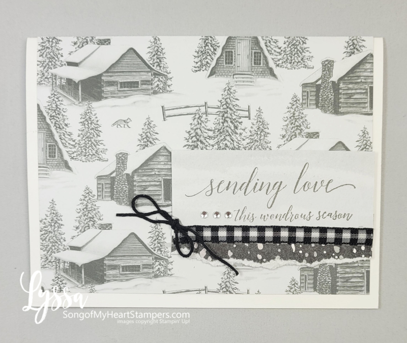 Peaceful Cabin place Stampin Up mountains pines rubber stamp Christmas Holiday New Year