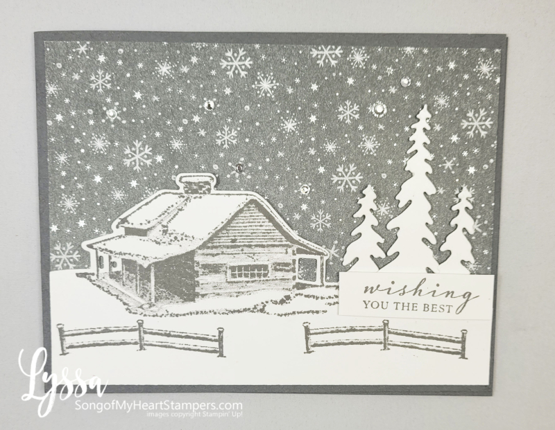 Peaceful Cabin place Stampin Up mountains pines rubber stamp Christmas Holiday winter