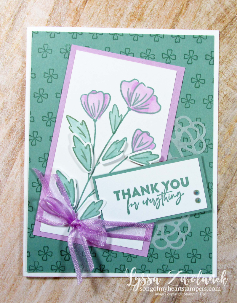 Flowers of Friendship Stampin Up floral punch bundle cardmaking ideas class Lyssa